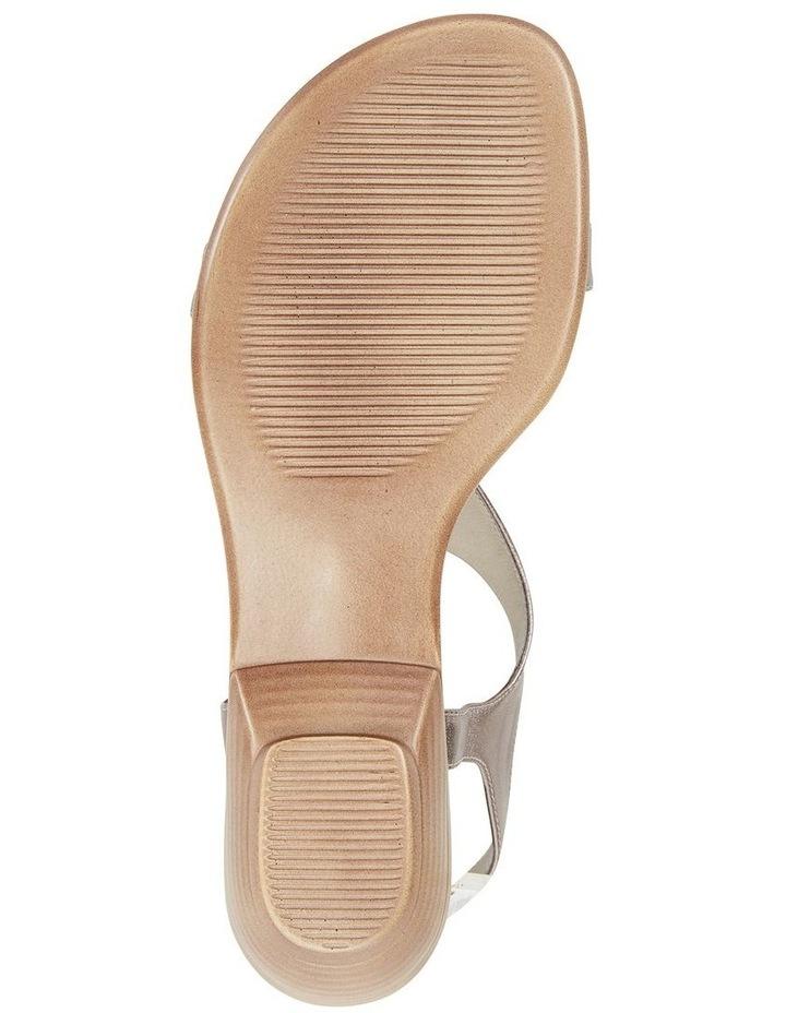 Sandra Pewter Metallic Sandal image 6