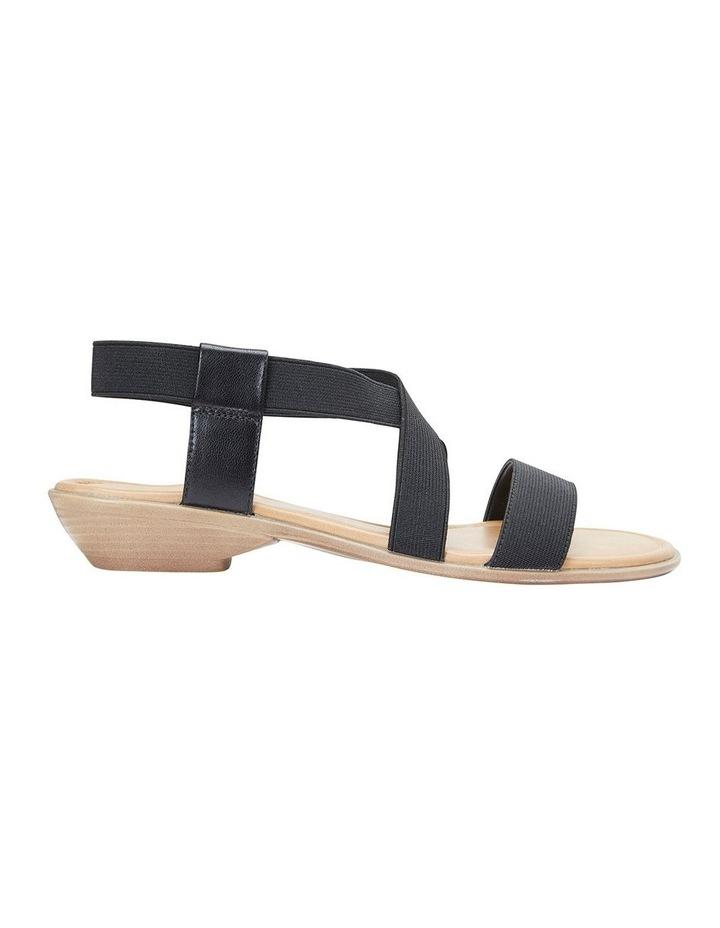 Saratoga Black Elastic Sandal image 1