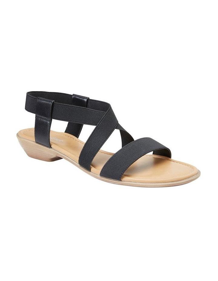 Saratoga Black Elastic Sandal image 2