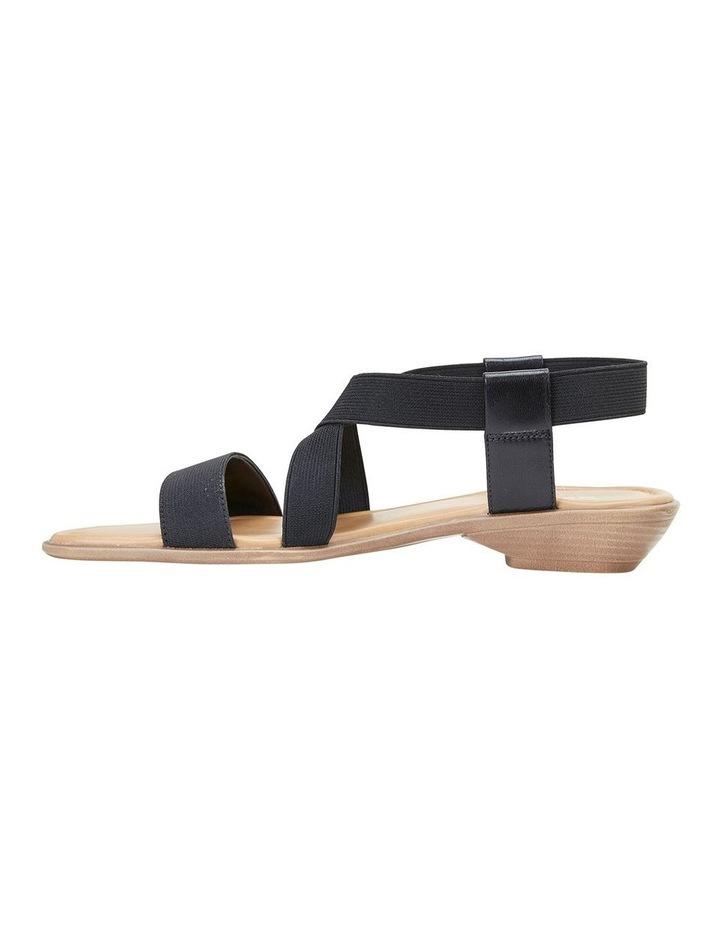 Saratoga Black Elastic Sandal image 3