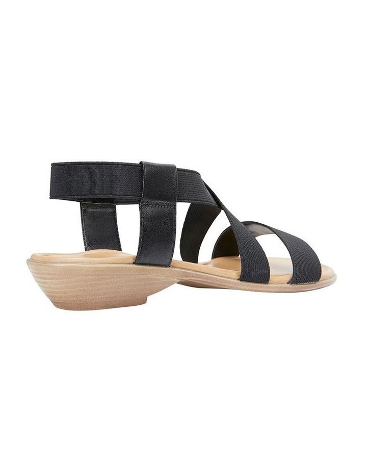 Saratoga Black Elastic Sandal image 4