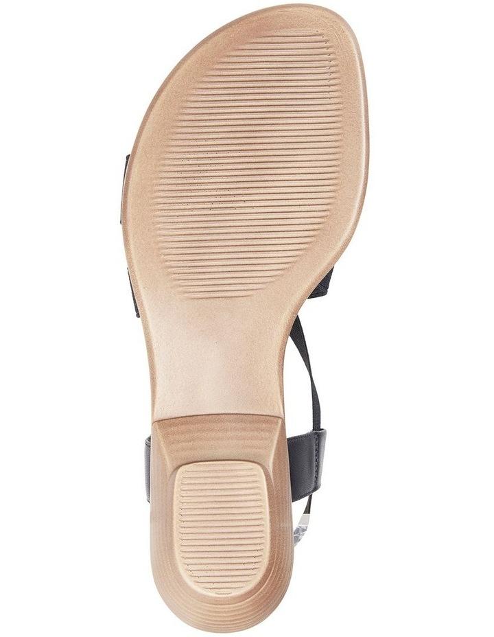 Saratoga Black Elastic Sandal image 6