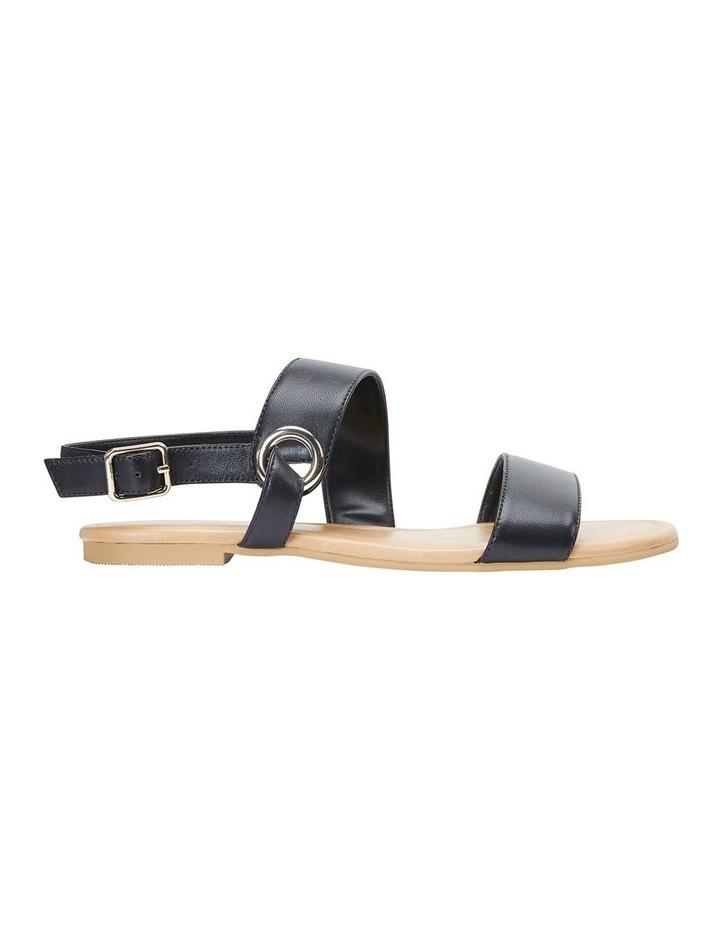 Desire Black Glove Flat Sandal image 1