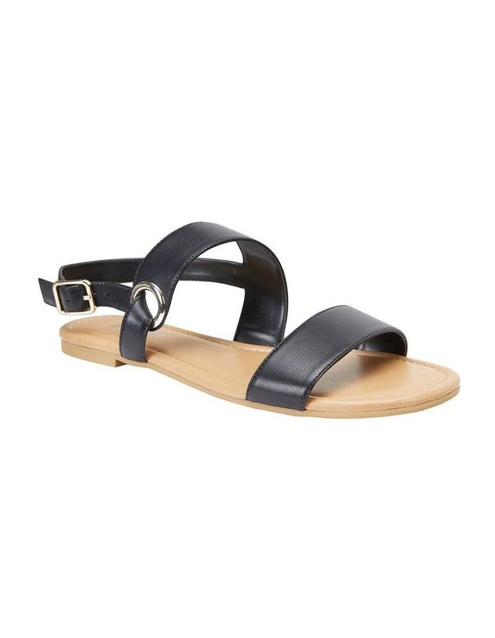 Desire Black Glove Flat Sandal image 2