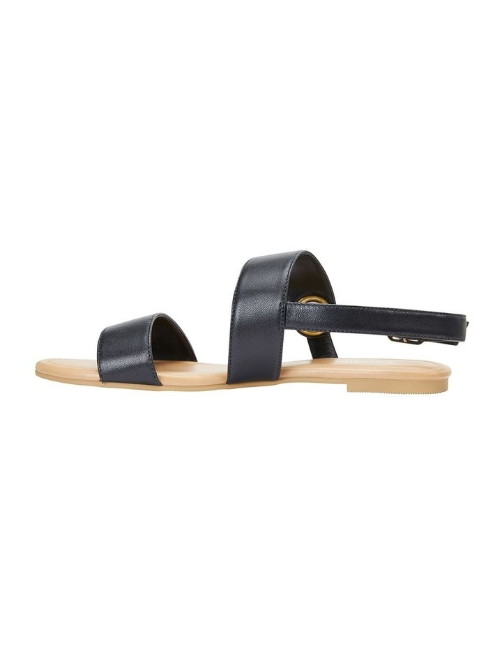 Desire Black Glove Flat Sandal image 3