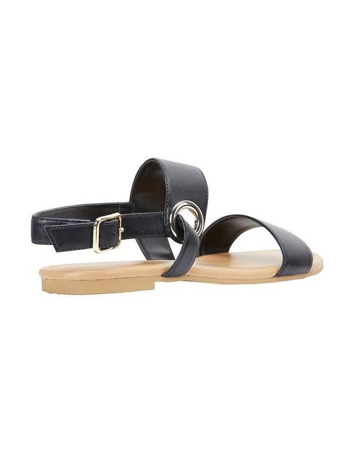Desire Black Glove Flat Sandal image 4