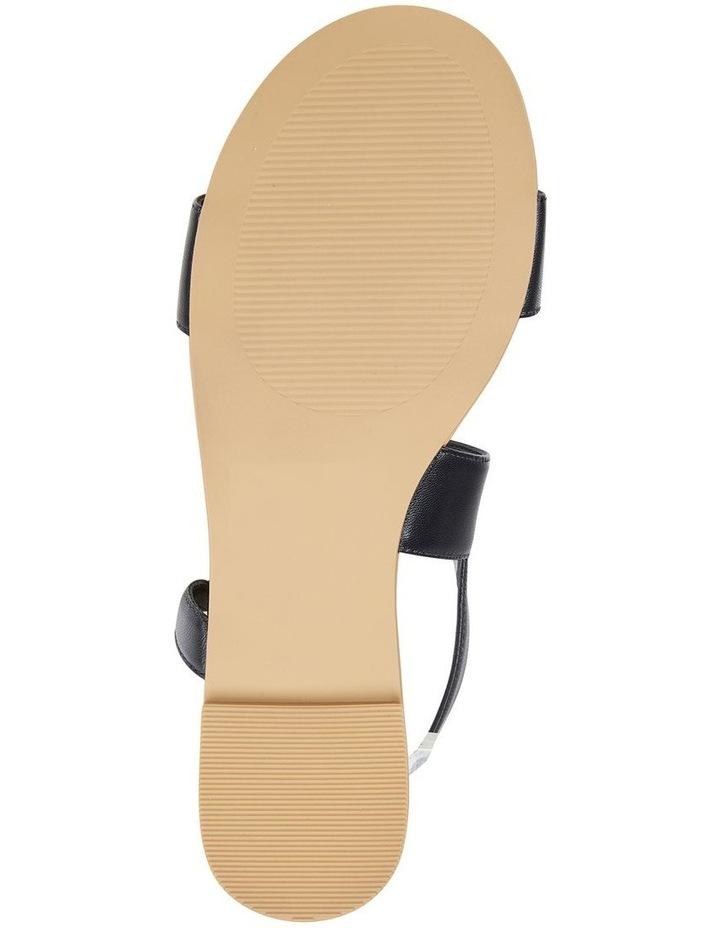 Desire Black Glove Flat Sandal image 6