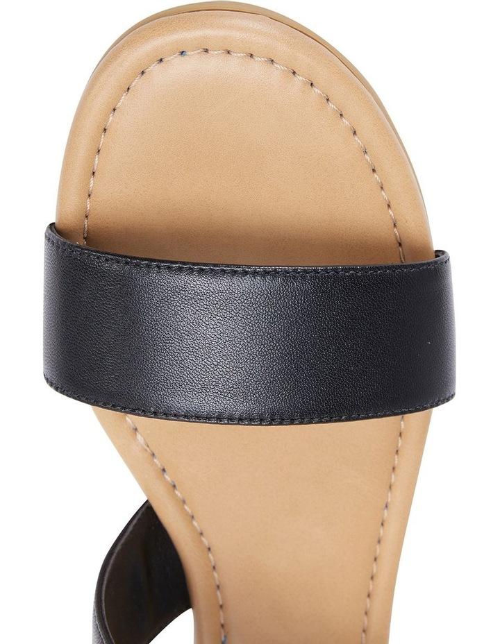 Desire Black Glove Flat Sandal image 7