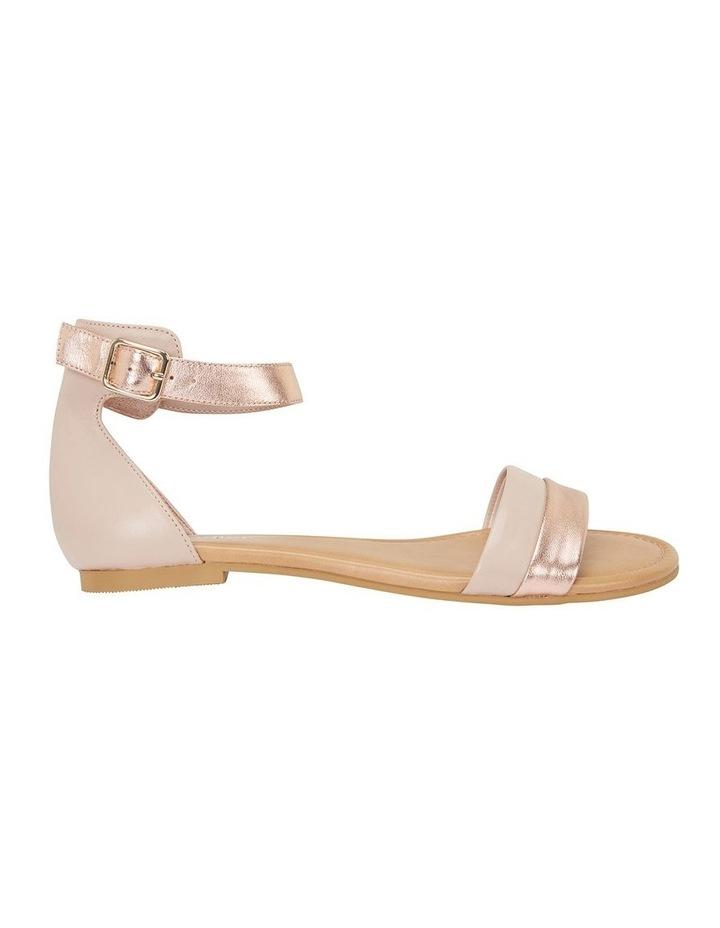 Domino Blush / Rose Gold Metallic Contrast Flat Sandal image 1