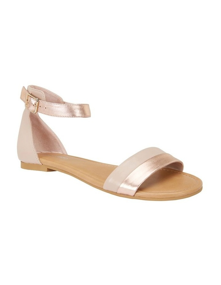 Domino Blush / Rose Gold Metallic Contrast Flat Sandal image 2