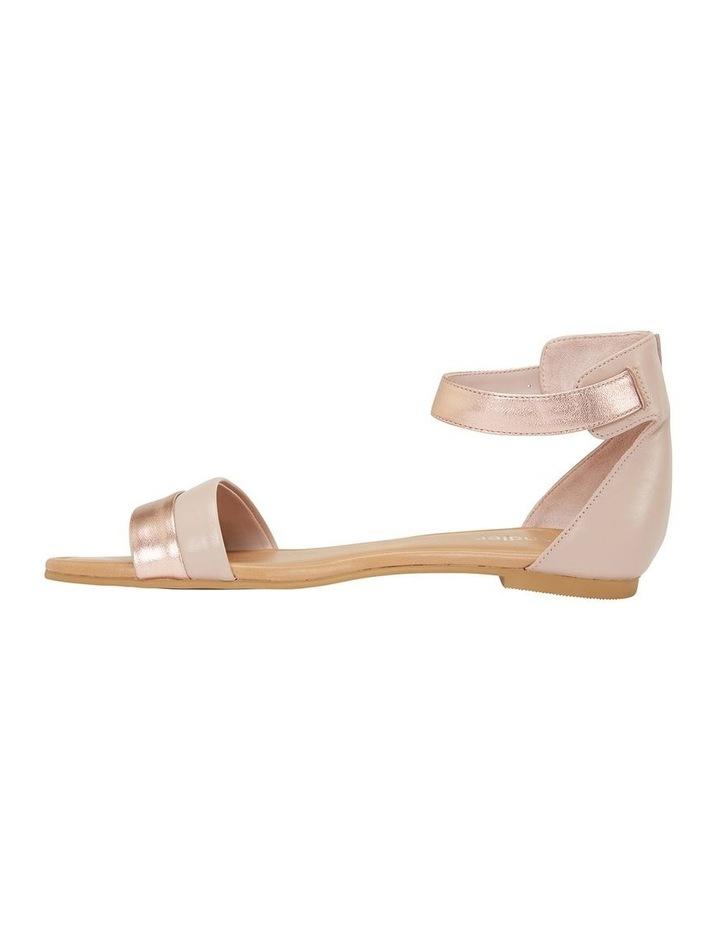 Domino Blush / Rose Gold Metallic Contrast Flat Sandal image 3