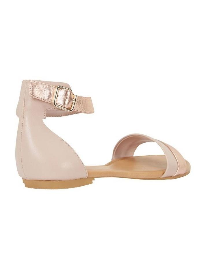 Domino Blush / Rose Gold Metallic Contrast Flat Sandal image 4