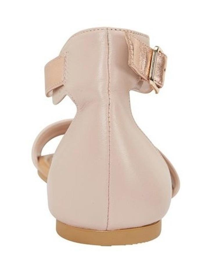 Domino Blush / Rose Gold Metallic Contrast Flat Sandal image 5