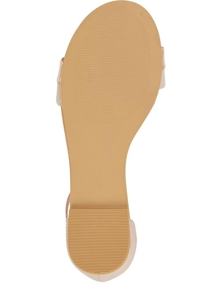 Domino Blush / Rose Gold Metallic Contrast Flat Sandal image 6