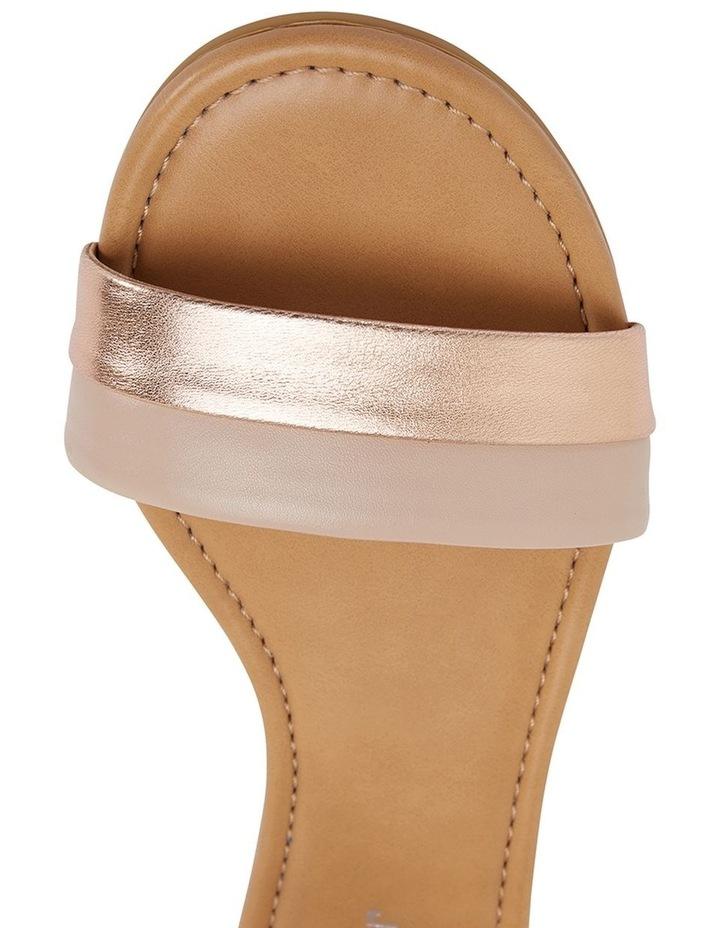 Domino Blush / Rose Gold Metallic Contrast Flat Sandal image 7