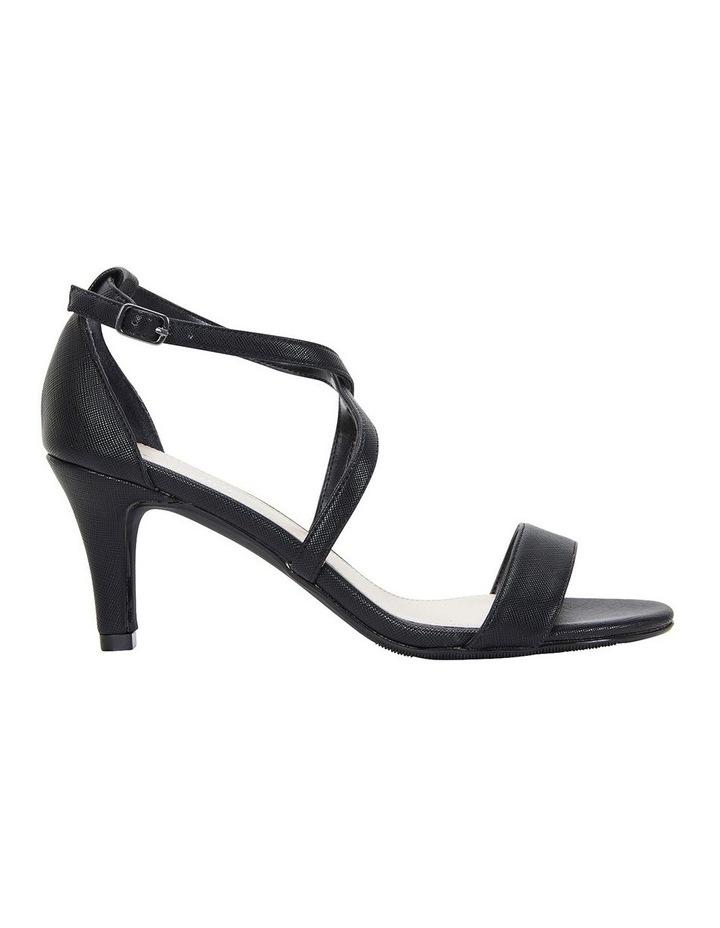 Alison Black Print Stiletto Heel Sandal image 1