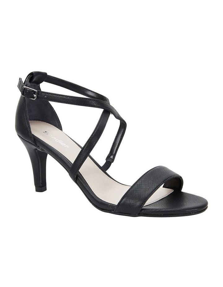 Alison Black Print Stiletto Heel Sandal image 2