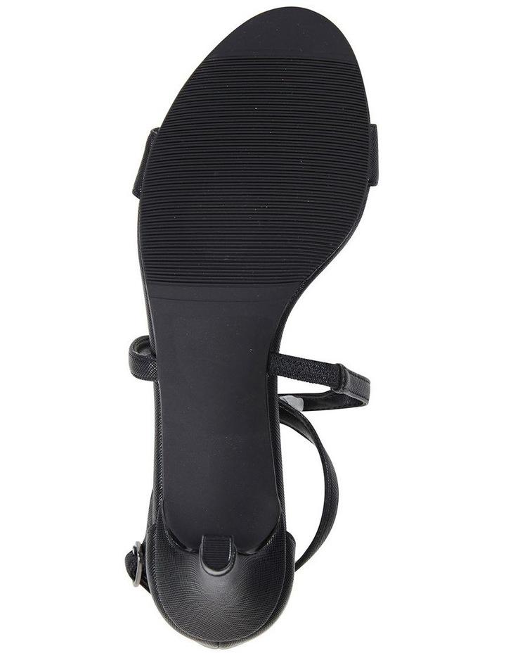 Alison Black Print Stiletto Heel Sandal image 6