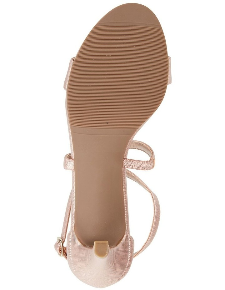 Alison Rose Gold Print Stiletto Heel Sandal image 6