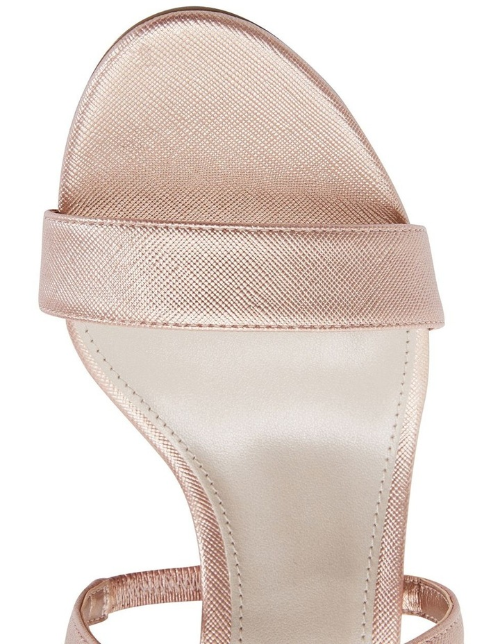 Alison Rose Gold Print Stiletto Heel Sandal image 7