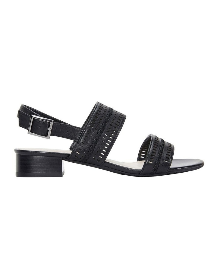 Altona Black Glove Laser Cut Sandal image 1