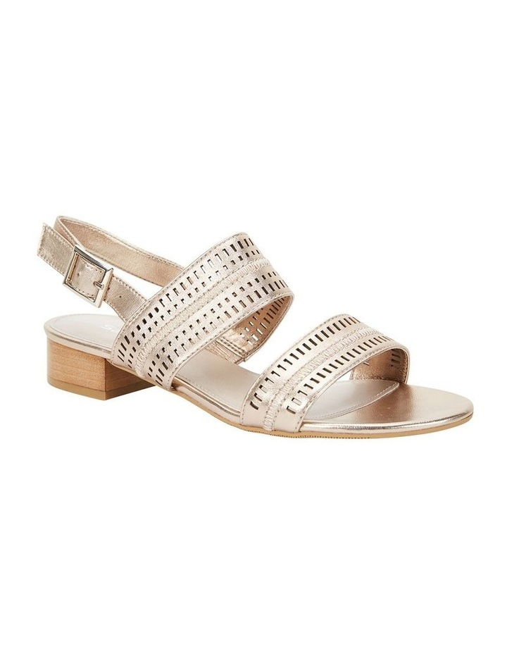 Altona Soft Gold Metallic Laser Cut Sandal image 2