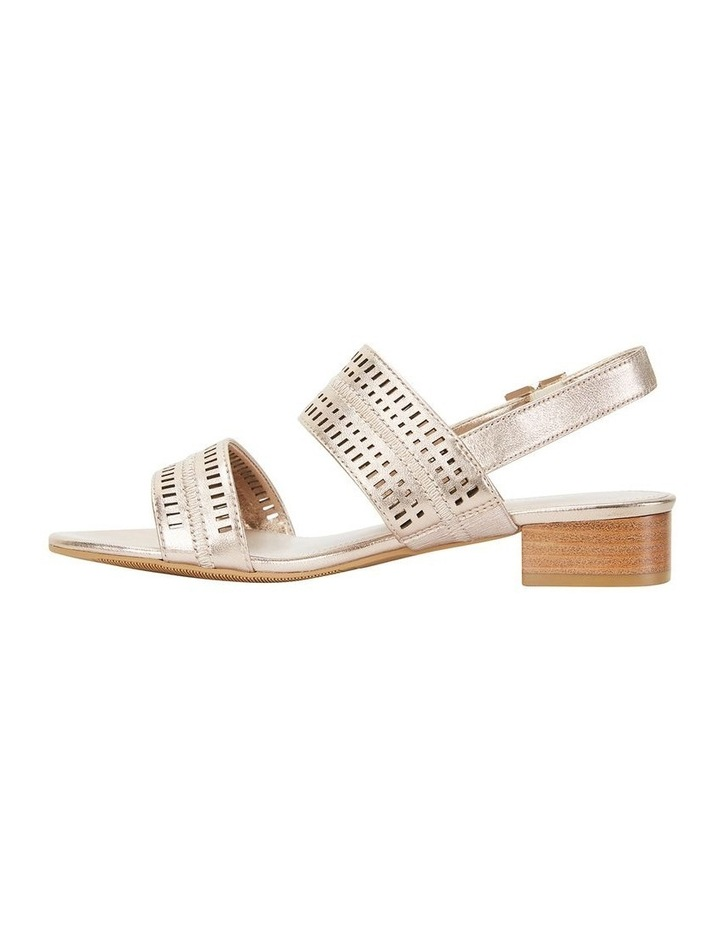 Altona Soft Gold Metallic Laser Cut Sandal image 3