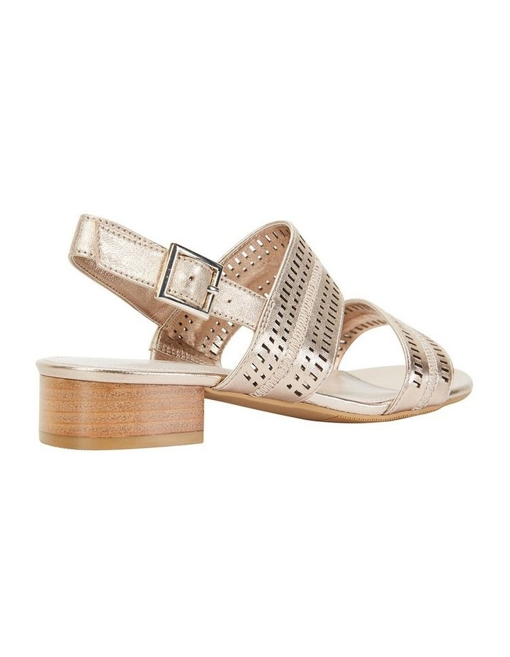 Altona Soft Gold Metallic Laser Cut Sandal image 4