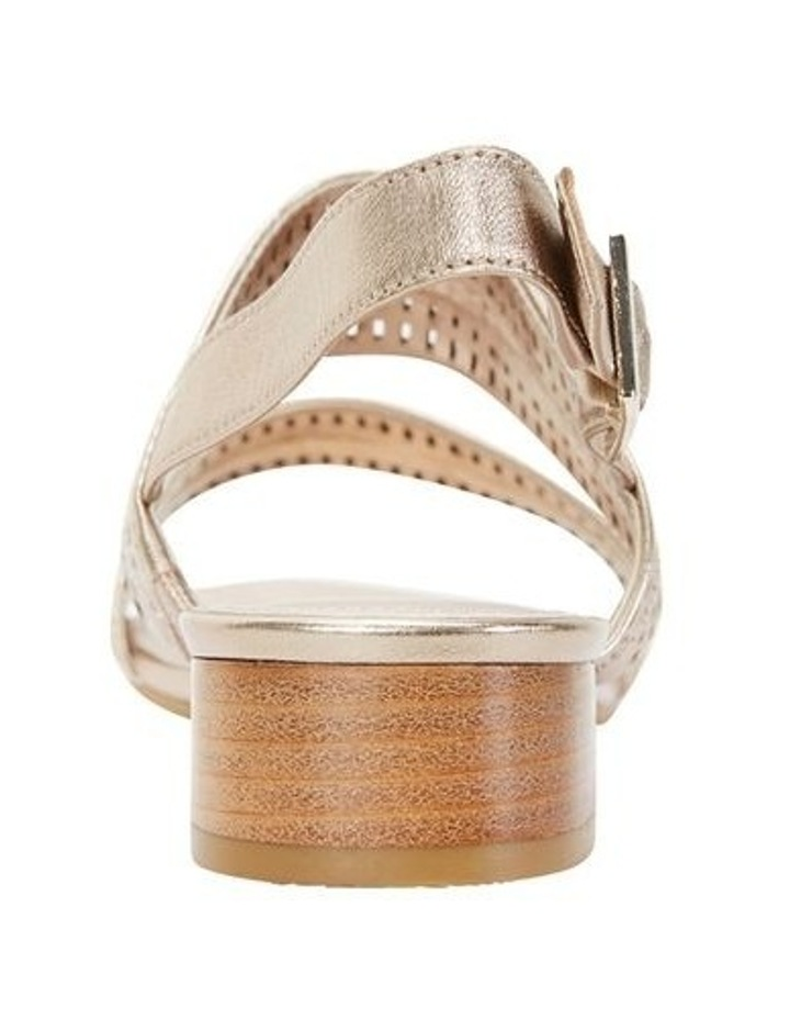Altona Soft Gold Metallic Laser Cut Sandal image 5