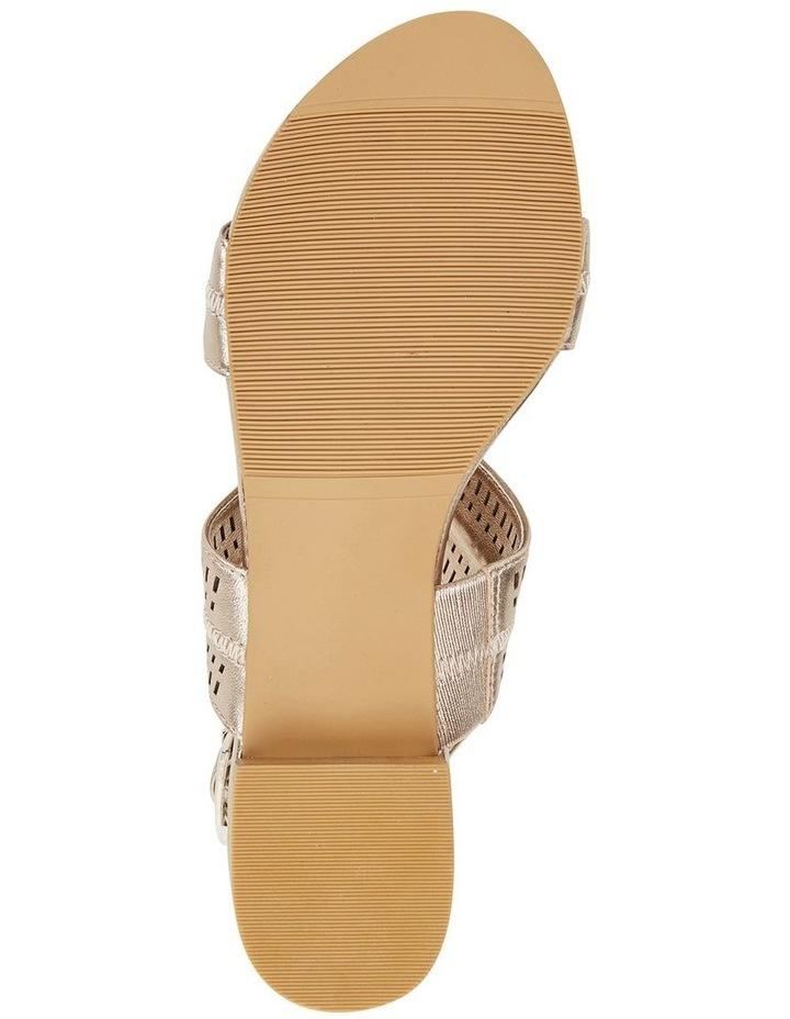 Altona Soft Gold Metallic Laser Cut Sandal image 6