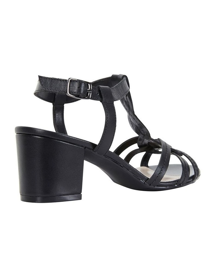 Avenue Black Glove Block Heel Sandal image 4
