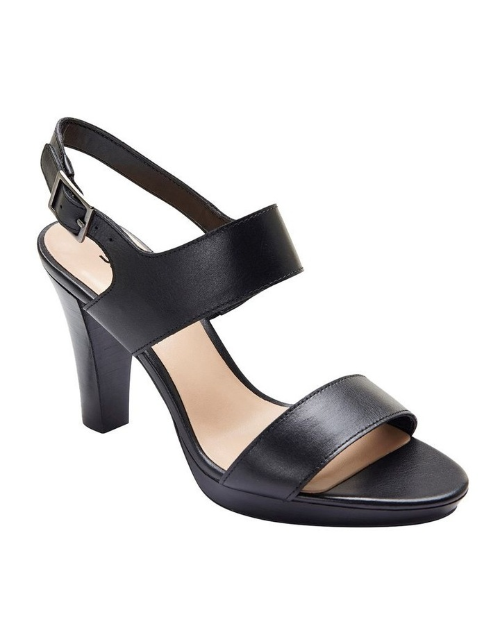 Coco Black Glove Two Strap Block Heel Sandal image 2