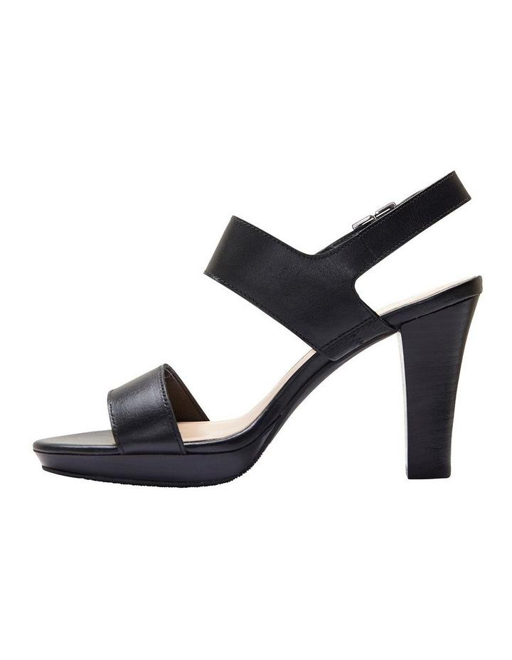 Coco Black Glove Two Strap Block Heel Sandal image 3