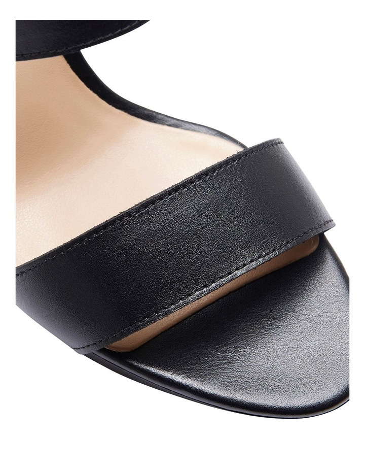 Coco Black Glove Two Strap Block Heel Sandal image 7