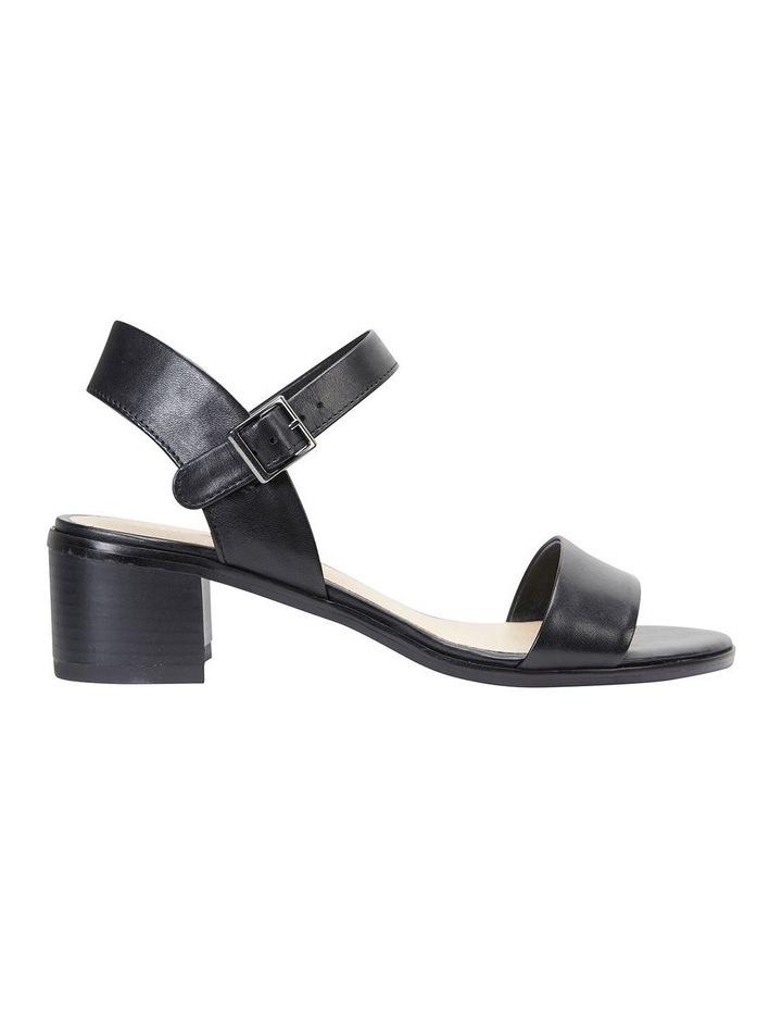 Pluto Black Glove Block Heel Sandal image 1