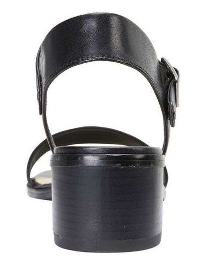 Pluto Black Glove Block Heel Sandal image 5