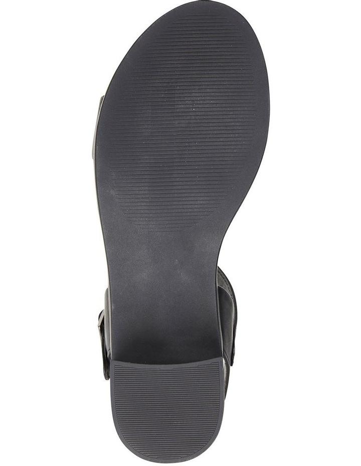 Pluto Black Glove Block Heel Sandal image 6
