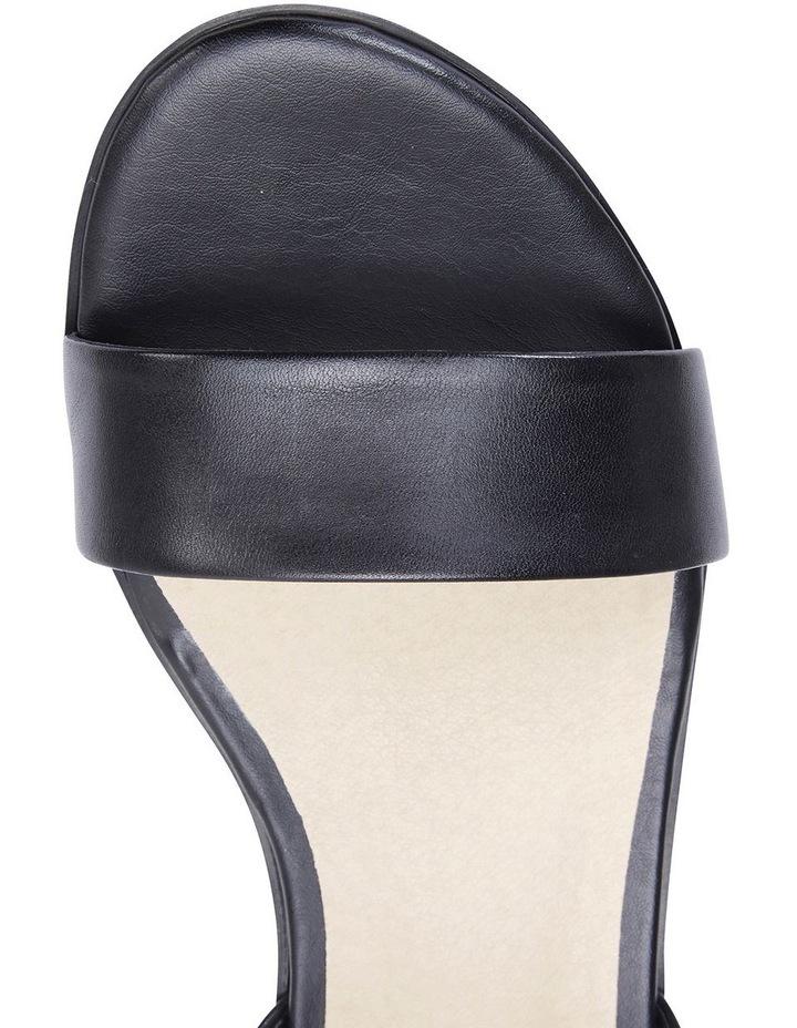 Pluto Black Glove Block Heel Sandal image 7