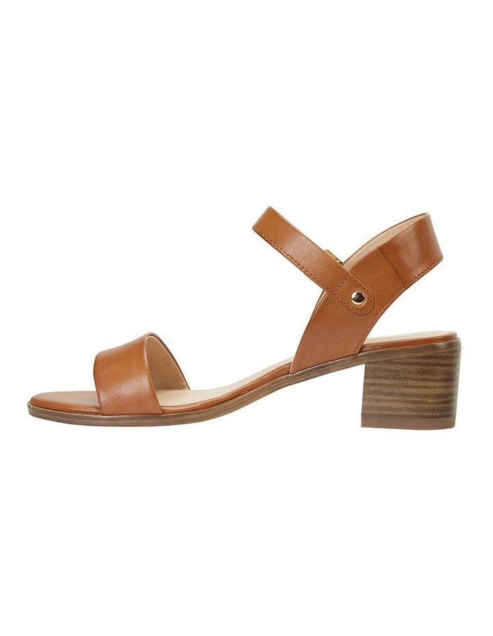 Pluto Cognac Glove Block Heel Sandal image 3
