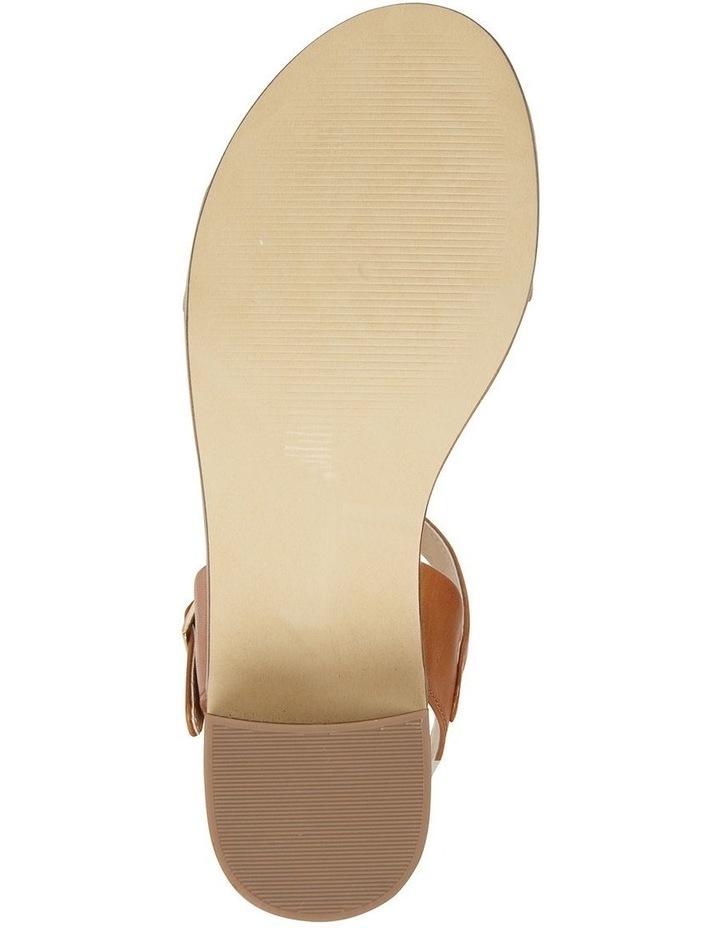 Pluto Cognac Glove Block Heel Sandal image 6