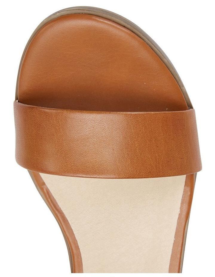 Pluto Cognac Glove Block Heel Sandal image 7