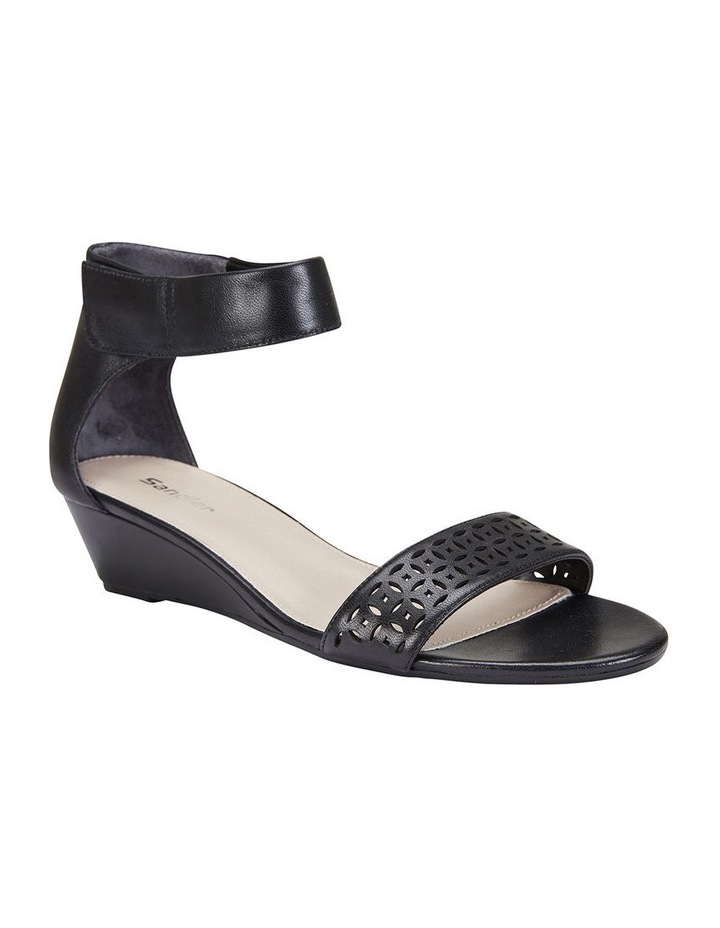 Quiz Black Glove Wedge Sandal image 2