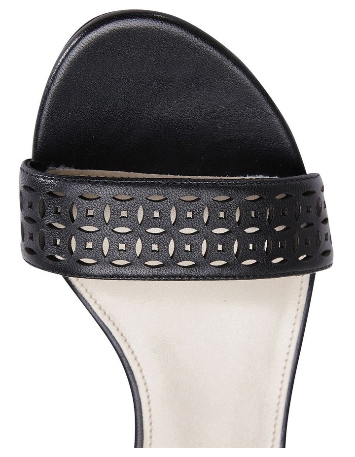 Sandler Quiz Black Glove Wedge Sandal