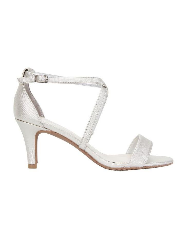 Alison Silver Print Stiletto Heel Sandal image 1
