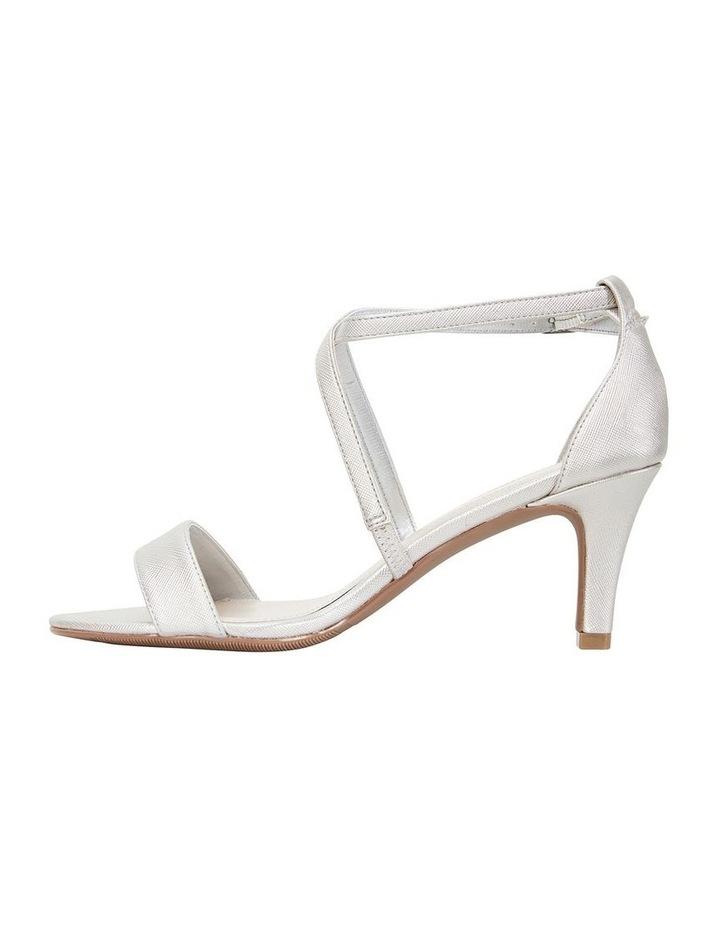 Alison Silver Print Stiletto Heel Sandal image 3