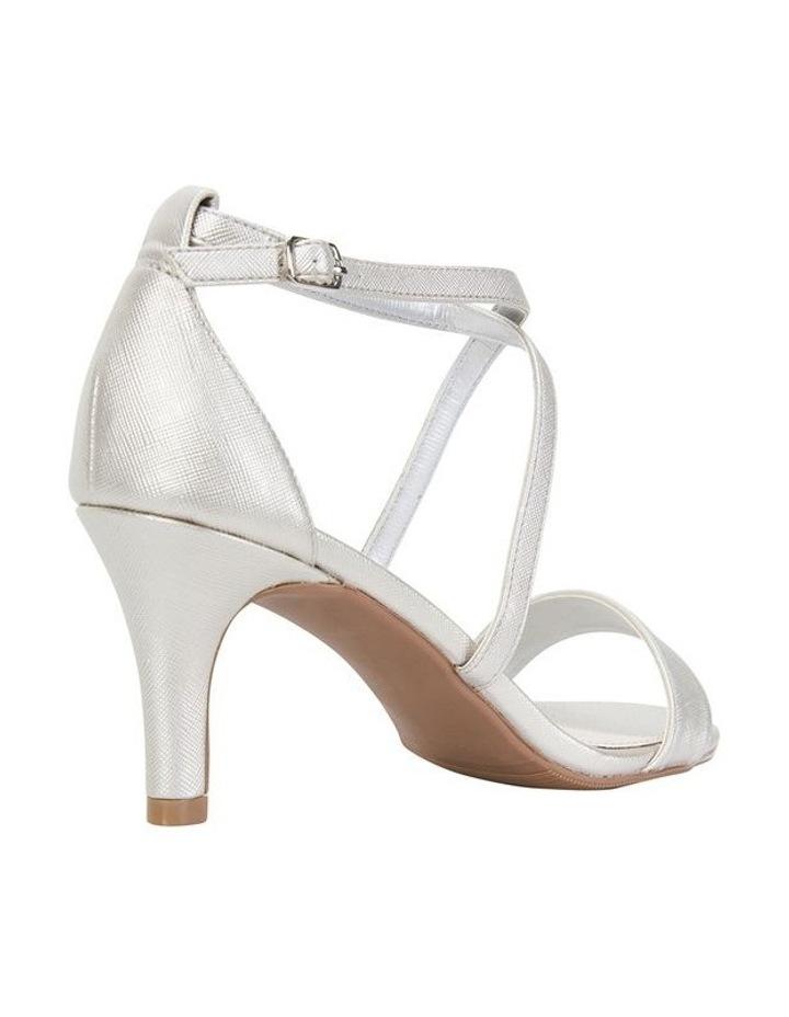 Alison Silver Print Stiletto Heel Sandal image 4