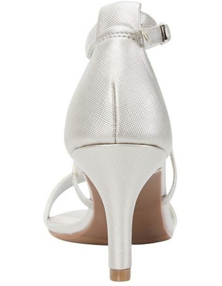 Alison Silver Print Stiletto Heel Sandal image 5