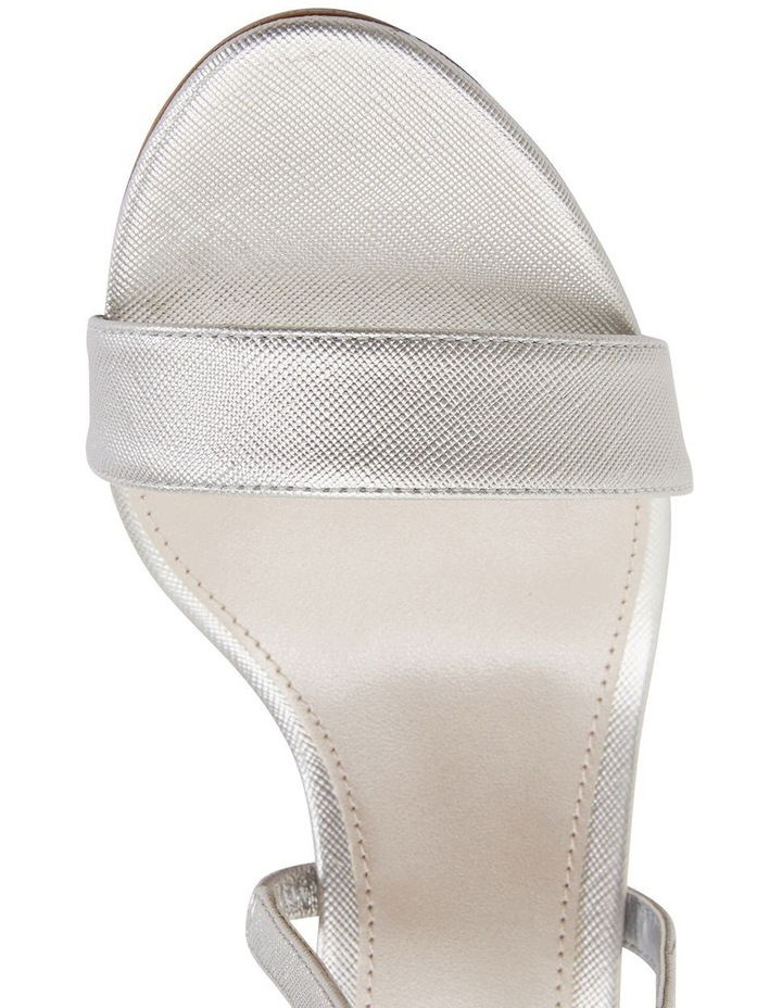 Alison Silver Print Stiletto Heel Sandal image 7