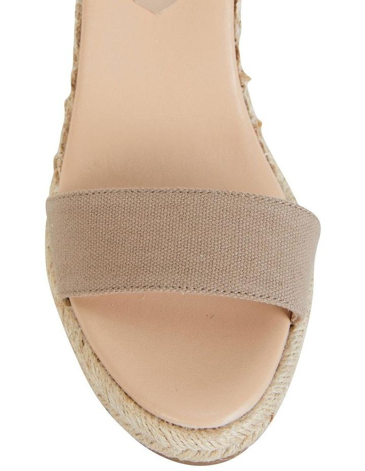 Audrey Natural Linen Sandal image 7