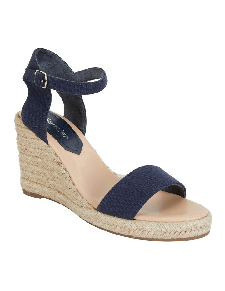Audrey Navy Linen Sandal image 2